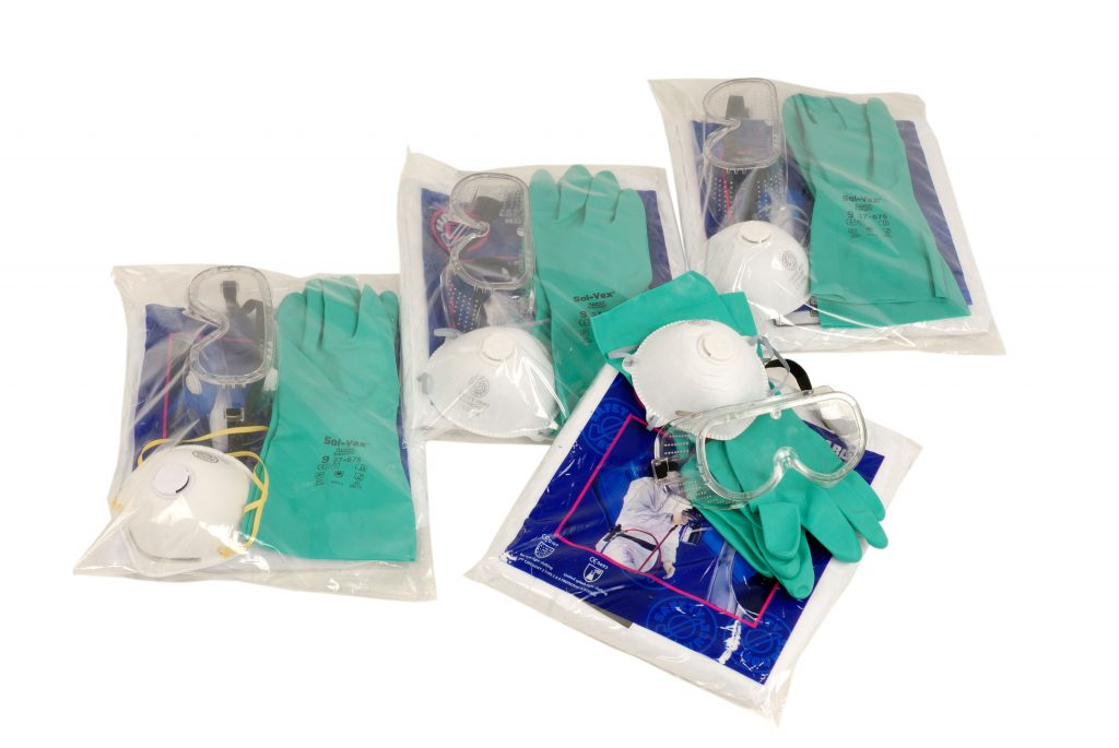 Ppe Pack Suit Gloves Goggles Mask Spill Store